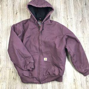Carhartt Sandstone Quilt Lined Flannel jacket XL